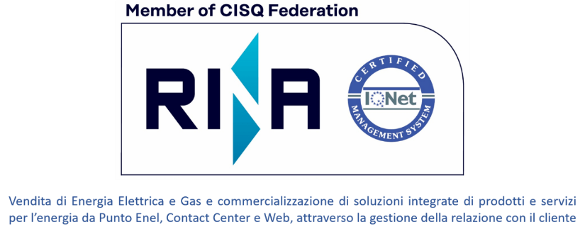 Logo RINA. Member of CISQ Federation.