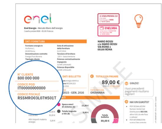 Pagamento bolletta autolettura ed altro via sms enel for Enel gas bolletta